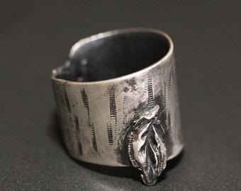 Handmade Fashion Silver Ring Oxidized