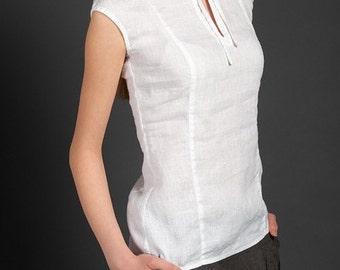 Linen women blouse, Pure linen blouse, Linen White Blouse, Linen clothing, Linen clothes, Organic Linen Blouse