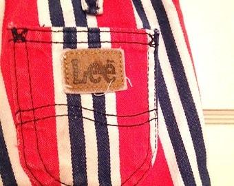 Vintage Kids 1970s Denim Striped LEE Shorts