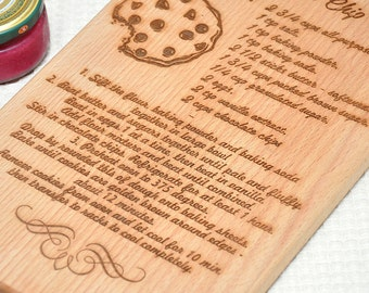 Personalized Handwritten recipe Cutting Board, Custom Engraved Cutting Board, Personalized Wedding Housewarming Gift, Beech Cutting Boards