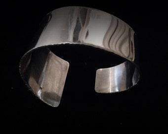 Wide Sterling Silver Cuff