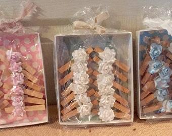 Flower clothes pins~ decorations