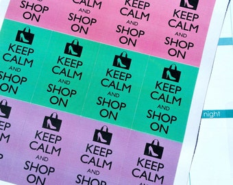 Keep Calm and Shop On Happy Planner Stickers