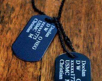 Dog Tags (Black)