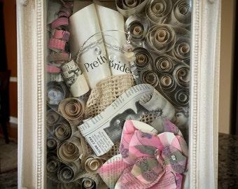 Pretty Bride Shadow Box/Wedding Gift Shadow Box/Wedding Shower Shadow Box