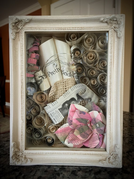 Wedding Gift Shadow Box : Bridal Shower Shadowbox Gift, Wedding Gift Shadowbox