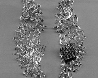 Rhinestone Crystal Comb, Crystal Bridal Headpiece, Bridal Hair Comb, Art Nouveau Comb