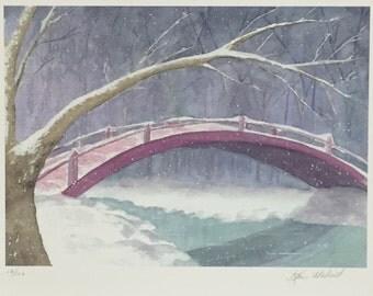 Winter Bridge Giclee