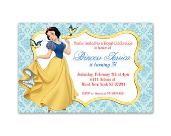Snow White Birthday Party Invitations -Printable Girls