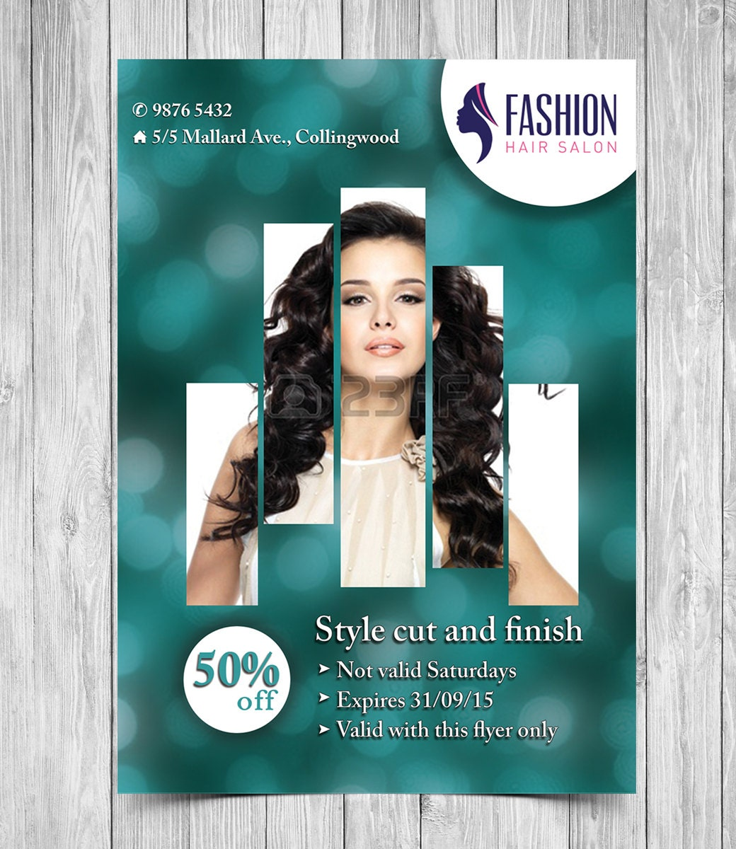 salon flyer printable flyer template hair salon flyer beauty salon flyer template business promotion business flyer printable