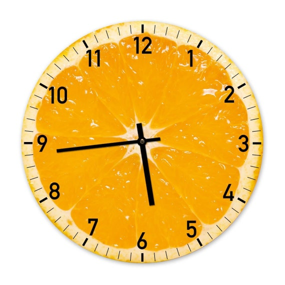the orange designer kitchen wall clock by clockadoodledooo modern design kitchen wall clock mirror acrylic room bar