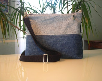 Denim Cross Body Purse with Adjustable Strap