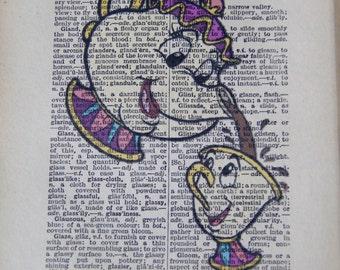 Mrs Potts and Chips Vintage Print