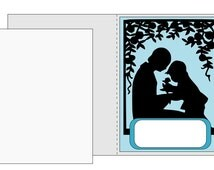 A2 size card SVG Mother and Son