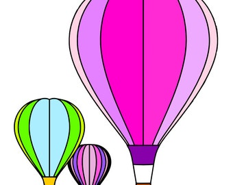 Hot Air Balloons SVG