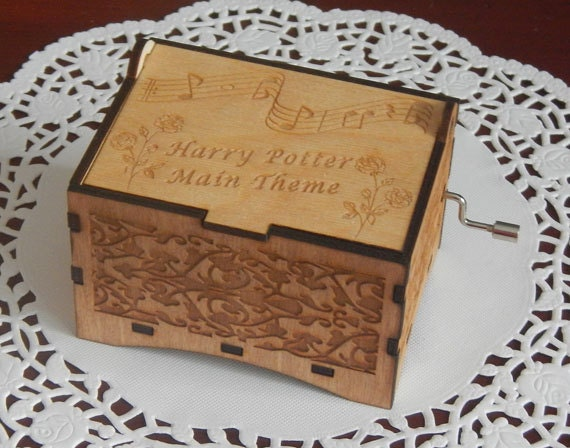 Jewelry Music Box Harry Potter Theme Laser by WhatIsInTheBox