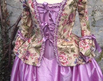 historical costume Camisole woman 1740 size 40/44