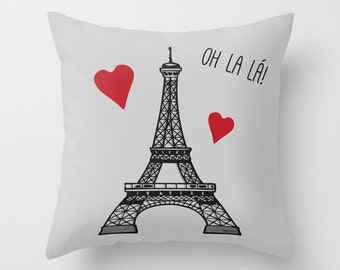 Eiffel Tower  Pillow  / Paris Bedroom / Paris Pillow / Paris Room