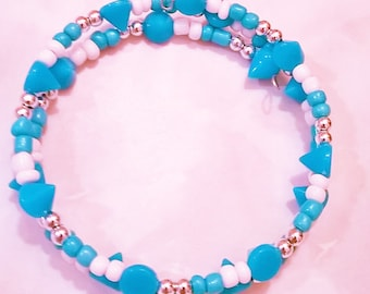 Ocean Blue Choker with matching earrings
