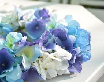 Blue Hydrangea Flower Crown
