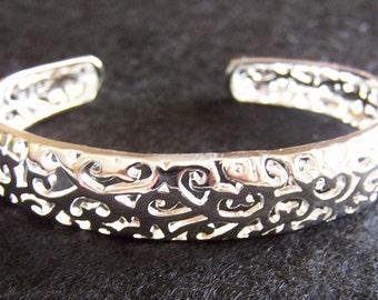 Solid 925 Silver Womens Bracelet (B20)