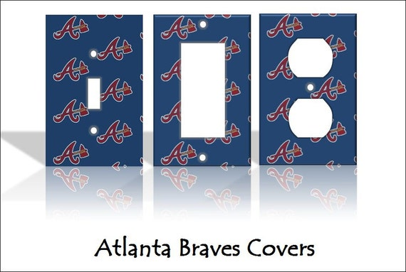 Atlanta Braves Mlb Light Switch Covers By Theolswitcheroo