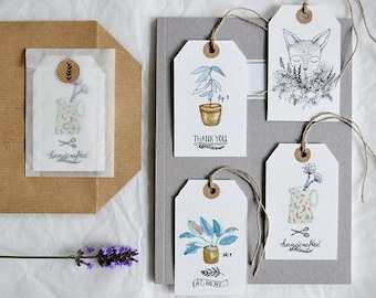 Gift Tag Set - From my garden