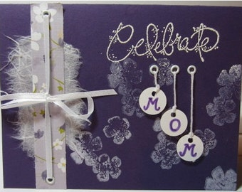 """Handmade """"One of a Kind"""" Mother's Day Card"""