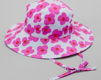 Pink & White Floral Sunhat