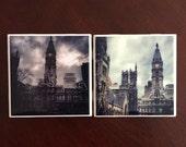 Philadelphia City Hall (Set of 4 Coasters) Choose from 2