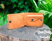 Coin Wallet, Simple Wallet, Vintage Wallet, Light Brown Wallet, With Coin Pocket