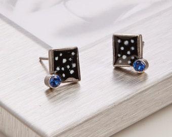 Popart Earrings,Sterling Silver