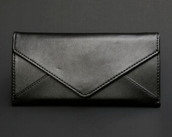 Womens Wallet, Womans Wallet, Leather Wallet, Leather Purse, Black Wallet, Black Purse, Black Leather Wallet, Black Leather Purse.
