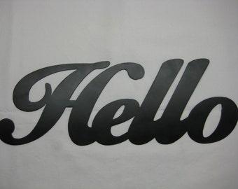 Hello Metal Wall Words