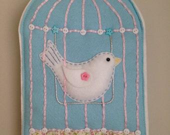 Felt Bird Cage - Wall Hanging