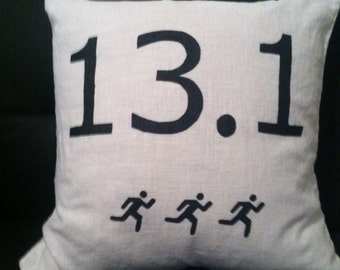 Half Marathon Message Pillow