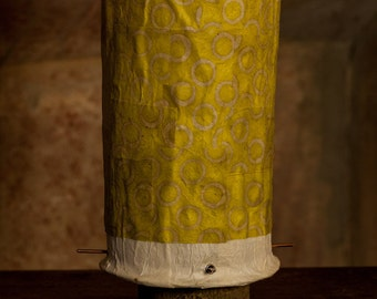 """Paper lamp """"yellow squiggle"""""""
