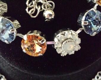 Swarovski bracelet, Beach Bum Tennis Bracelet - 11mm Tennis Bracelet