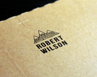 Custom Logo Rubber Stamp - 2 x 2 inches (5 x 5 cm)