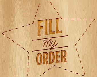 FILL MY ORDER - Please Fill my Instant Download and Editable Text item