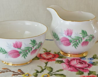 Crown Regent sugar bowl and creamer