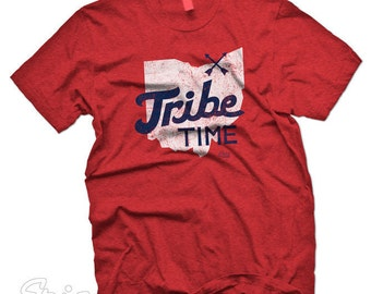 Cleveland Indians Inspired Tribe Time Custom T-shirt