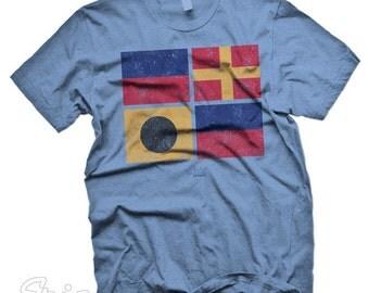 New Custom Erie Apparel Erie Nautical Flags tshirt