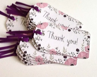 12 Thank You Gift/Thank You Tags