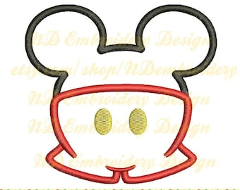 Mickey pants embroidery applique design, Disney Machine Embroidery, ms-041