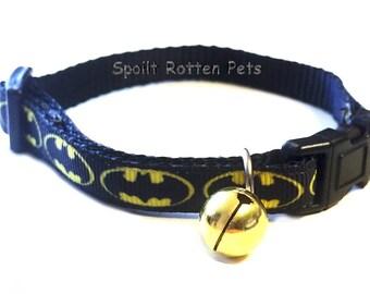 Could Your Cat Be Batman's Sidekick With Our Spoilt Rotten Unique Bat Cat Collar - Marvelous Comic Wear For your Super Hero Feline