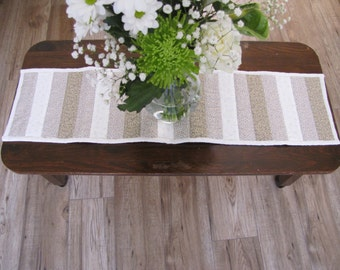 Quilted Table Runner/Wall Decoration Beige