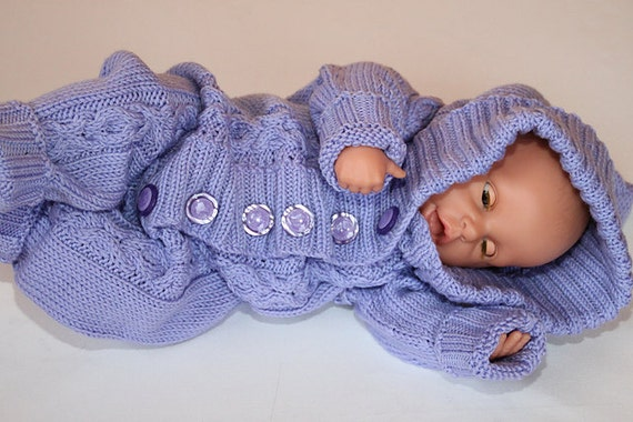 Knitting Patterns For Baby Jumpsuits : Baby jumpsuit knitting pattern 0-6 month by BabyKnittingsWorld