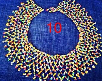multicoloured Zulu traditional necklace