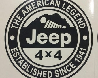 Jeep- American Legend Decal
